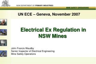 Electrical Ex Regulation in NSW Mines