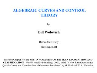 ALGEBRAIC CURVES AND CONTROL THEORY