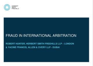 Fraud in international arbitration