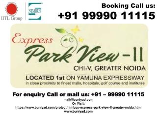 For Nimbus Park View 2 Fresh Booking @ 9999011115