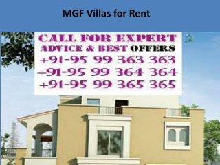MGF Villas for Rent