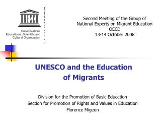 UNESCO and the Education of Migrants