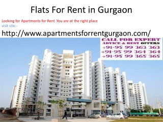 Flats for rent in gurgaon