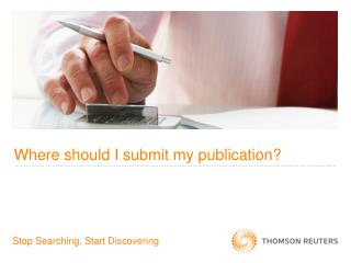 Where should I submit my publication?