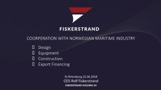 St.Petersburg 22.06.2018 CEO Rolf Fiskerstrand