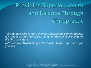 chiropractor lexington ky