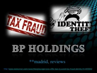 AGENCIES OFFER TIPS TO AVOID TAX FRAUD, IDENTITY THEFT
