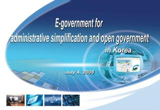 E-government for  administrative simplification and open government