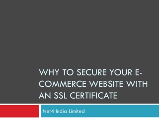 Why to secure your ecommerce website with an SSL certificate