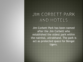 Jim Corbett hotels and resort booking