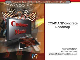 COMMANDconcrete Roadmap