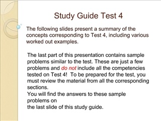 Study Guide Test 4