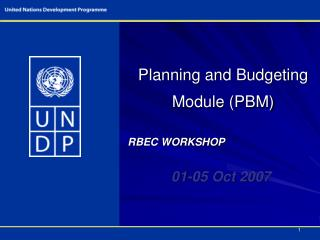 Planning and Budgeting Module (PBM)