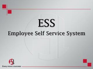 ESS Employee Self Service System
