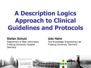A Description Logics Approach to Clinical Guidelines and Protocols