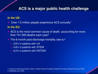 ACS is a major public health challenge