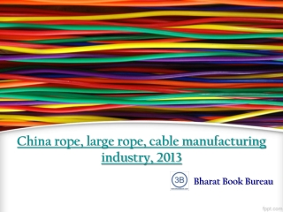 China rope, large rope, cable manufacturing industry, 2013