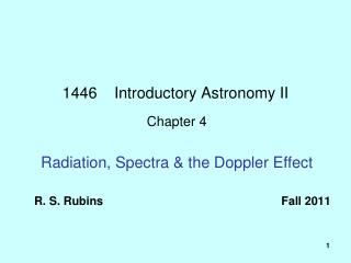 1446    Introductory Astronomy II