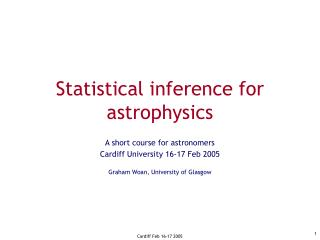 Statistical inference for astrophysics