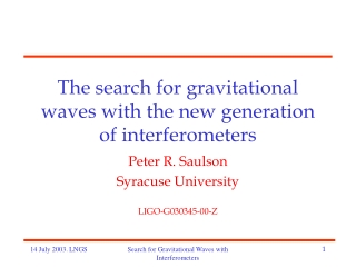 The LIGO gravitational wave observatories:  Recent results and future plans