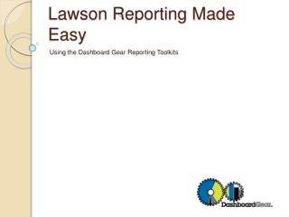Lawson Reporting Made Easy