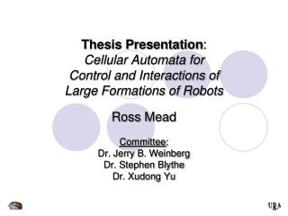 Thesis Presentation : Cellular Automata for Control and Interactions of Large Formations of Robots