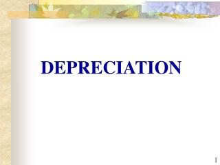 8 Depreciation