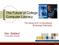The Future of College Computer Literacy
