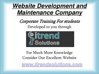 website development and maintenance company