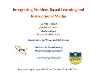 Integrating Problem-Based Learning and Instructional Media