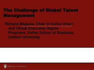 The Challenge of Global Talent Management