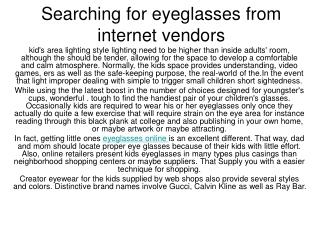 choose children glasses