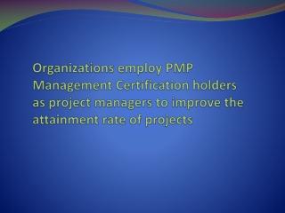 PMP Management Certification