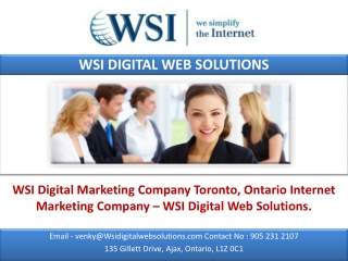WSI Digital Marketing Company Toronto.