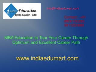 MBA Education to Tour Your Career Through Optimum