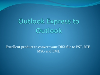 Outlook Express to Outlook