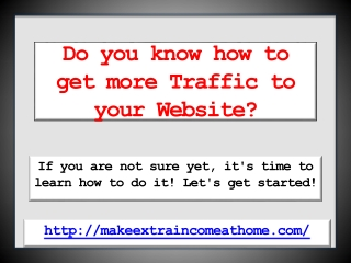 How to Get More Traffic to Your Site