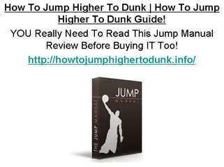 How To Jump Higher To Dunk