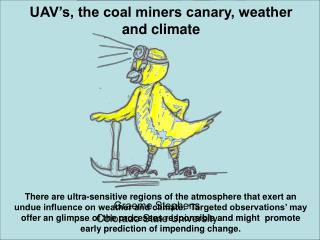 UAV s, the coal miners canary, weather and climate