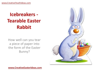 Icebreakers - Tearable Easter Rabbit