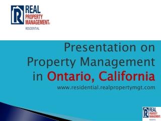 property management ontario california