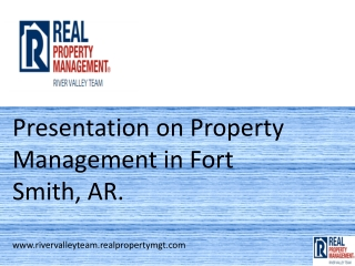 property management river valley AR