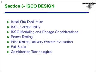 Section 6- ISCO DESIGN