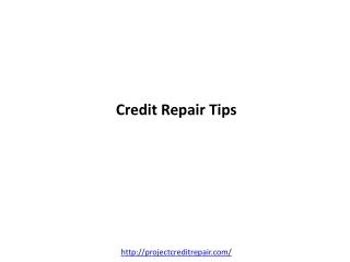 Credit Repair before its too late