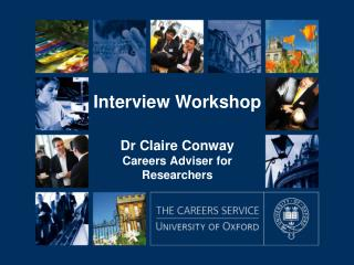 Dr Claire Conway Careers Adviser for Researchers