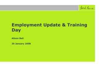 Employment Update & Training Day