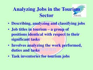 Analyzing Jobs in the Tourism Sector
