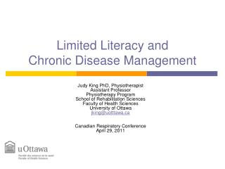 Limited Literacy and  Chronic Disease Management