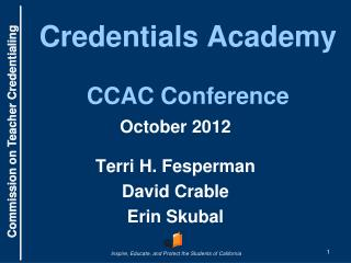 Credentials Academy CCAC Conference