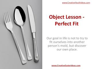 Object Lesson - Perfect Fit